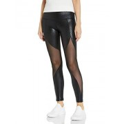 V.I.P. JEANS Leggings para Mujer, Cintura Alta, con Aspecto de Piel, Negro (Python Black), XL
