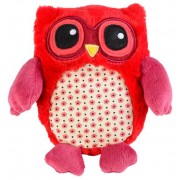 Warmies Magnetronknuffel Uil Rood 15cm