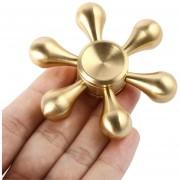 ER Gota De Agua Metal Mano Spinner Juguete Aliviar El Estrés Dedo Spinner Toy Fingertip - Dorado