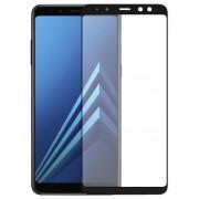 Folie Protectie Sticla Securizata Zmeurino Full Body 2.5D pentru Samsung Galaxy A8 Plus (2018) (Negru)