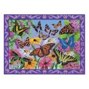 Set de creatie mozaic pe numere Peisaj cu Fluturi, Melissa and Doug