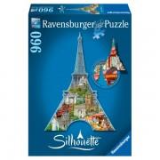 Puzzle contur turnul eiffel 960 piese