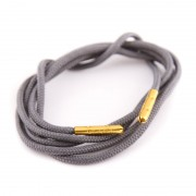 Bondi Laces Dress Laces Emu Grey / Gold Tips DRESGE1G