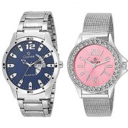 Gionee MRT-1023 Analog Stainless Steel Watch For Men & Womens (Pack Of 2)