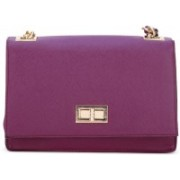 Call It Spring Women Casual Purple Genuine Leather Sling Bag