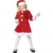 Smiffys Kerst jurkje met muts voor meisjes