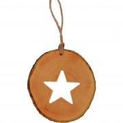 Decoratiune de craciun - Steluta din felie de lemn New Way Decor