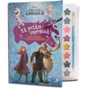 Disney. Regatul de gheata II. Sa pictam impreuna! Carte de colorat cu pensula si acuarele (format mic)/***