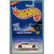 Hot Wheels 1996 1:64 Scale Orange & White Police Cruiser Fire Chief Police Car Die Cast Collector #577