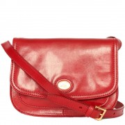 The Bridge Borsa Donna Media a Tracolla in Pelle Rossa linea Story Made in Italy