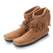 【SALE 35%OFF】ミネトンカ Minnetonka Hi Top Back Zip Boots (トープ) レディース