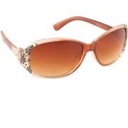 ADINE Women's Purple UV Protection Oval Full Rim Sunglasses