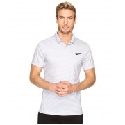 Nike Momentum Fly Dri Fit Wool Stripe Polo - Light Wolf GreyReflect Black