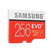 Samsung MicroSD card EVO+ series with Adapter, 256GB , Class10, UHS-1 Grade1 , Speed Read 95MB/s,Speed Write 90MB/s