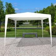 Outsunny 3x3m Pavillon Partyzelt Bierzelt Gartenzelt Weiß