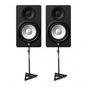 Yamaha HS Series HS5 2-way Bass-Reflex Bi-amplified Nearfield Studio Monitor (Pair) with Samson SAMS200 Heavy Duty Monitor Stands