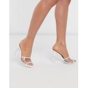 ALDO Lucie heeled sandal in bright white - female - White - Size: 6