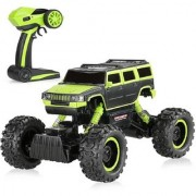 Emob 2.4 GHZ Monster Truck Racing Rally Off-Road 4 Wheel Rechargeable Remote Control Rock Crawler Car With Oversized Tir