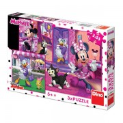 PUZZLE 3 IN 1 - DISTRACTIE CU MINNIE SI DAISY (3 X 55 PIESE) - DINO TOYS (335219)