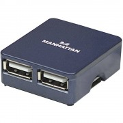 4-portni USB 2.0 hub Manhattan plavi