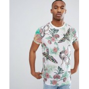 ASOS DESIGN relaxed t-shirt with all over floral insect print - Multi