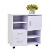 HomCom Armário Móvel Branco Madeira Melamina 60 x 35 x 65 cm