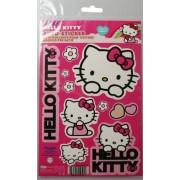 Hello Kitty - PVC Car Sticker Set (Kitties, Hearts & Flowers Stickers)