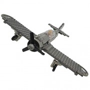242+pcs WW2 Military Focke-Wulf 190 Fighter Building Blocks Airplane Model