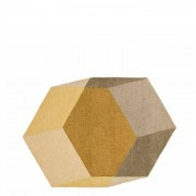 Iso Teppich Hexagon Gelb Puik