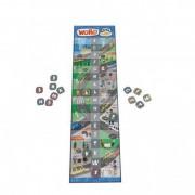 Joc Cursa cuvintelor, plansa de joc, 17 piese de joc cu consoane, 216 carduri