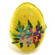 Decoratiune pentru paste - ou din paie galben