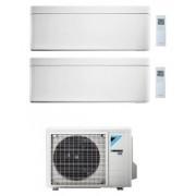 Daikin Stylish Condizionatore Dual Split 9000+12000 Btu Bianco Gas R-32 Wi-Fi Inverter 2mxm40m A+++