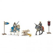 Schleich Kings On Horseback With Dragon Treasure