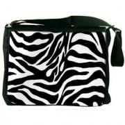 Zebra Skin Digitally Printed Laptop Messenger Bag