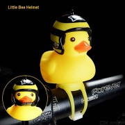 Cartoon Bike Horn And Light Cute Duck Shape Silicone Cycling Bell And Lamp
