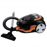 Aspirator fără sac Albatros Golden 90 Eco, 900 W, 2.5 L, Filtre HEPA, Tub metalic telescopic, Perie pentru covoare şi podele, Negru/rosu/auriu
