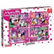 Jumbo 4-in-1 puzzel Disney Minnie Mouse - 12 + 20 + 30 + 36 stukjes