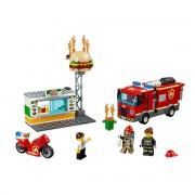 Lego City Resgate de incêndio na hamburgueria, 60214Multicolor- TAMANHO ÚNICO