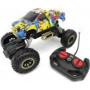 Masina monster truck cu roti mari arcuri si telecomanda
