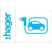 Elektromos autótöltő állomáshoz 20 darab RFID kártya Witty ( Hager XEV308 )