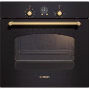 Cuptor electric incorporabil Bosch HBA23RN61, clasa energetica A, 7 functii, timer analogic, grill, 61 litri, comenzi mecanice, autocuratare eco clean, negru rustic