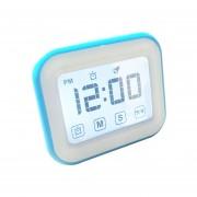 Cocina Temporizador Reloj Despertador Digital Gran Pantalla Tactil LCD Vienen Con Luz De Noche Para Cocinar, Hornear (azul)