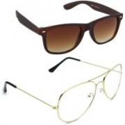 Magjons Aviator Sunglasses(Silver)