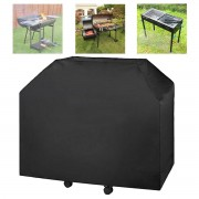 Meco 183x66x130cm Black Heavy Duty BBQ Grill Gas Barbecue Waterproof Cover Outdoor Rain Protector