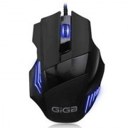 Giga 3200 DPI Programmable Gaming Mouse with Breathing Light and 7 Buttons for PC (black)