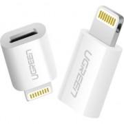 Adaptor Lightning pentru micro USB UGREEN 2.4a (alb)