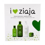 Ziaja Natural Olive sada sprchový gel 500 ml + tělové mléko 400 ml + denní pleťová péče 50 ml + micelární voda 200 ml pro ženy