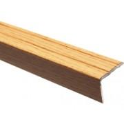 Protectie treapta aluminiu 2700x25x20 mm stejar