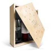 YourSurprise Coffret vin rouge avec 2 verres - Salentein Primus Malbec - Couvercle gravé