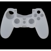 Microware Silicone Protective Skin Case Cover for Sony PlayStation 4 PS4 Controller - White